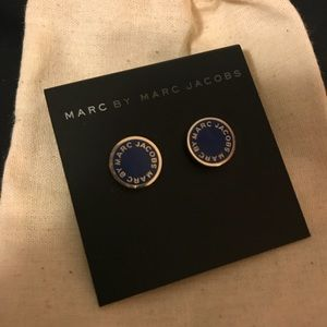 Blue Marc by Marc Jacobs disc stud earrings
